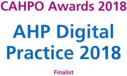 CAHPO Awards digital practice finalist
